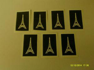 1 - 100  x  Eiffel Tower stencils for glitter tattoos / airbrush / face painting / many other uses Paris France